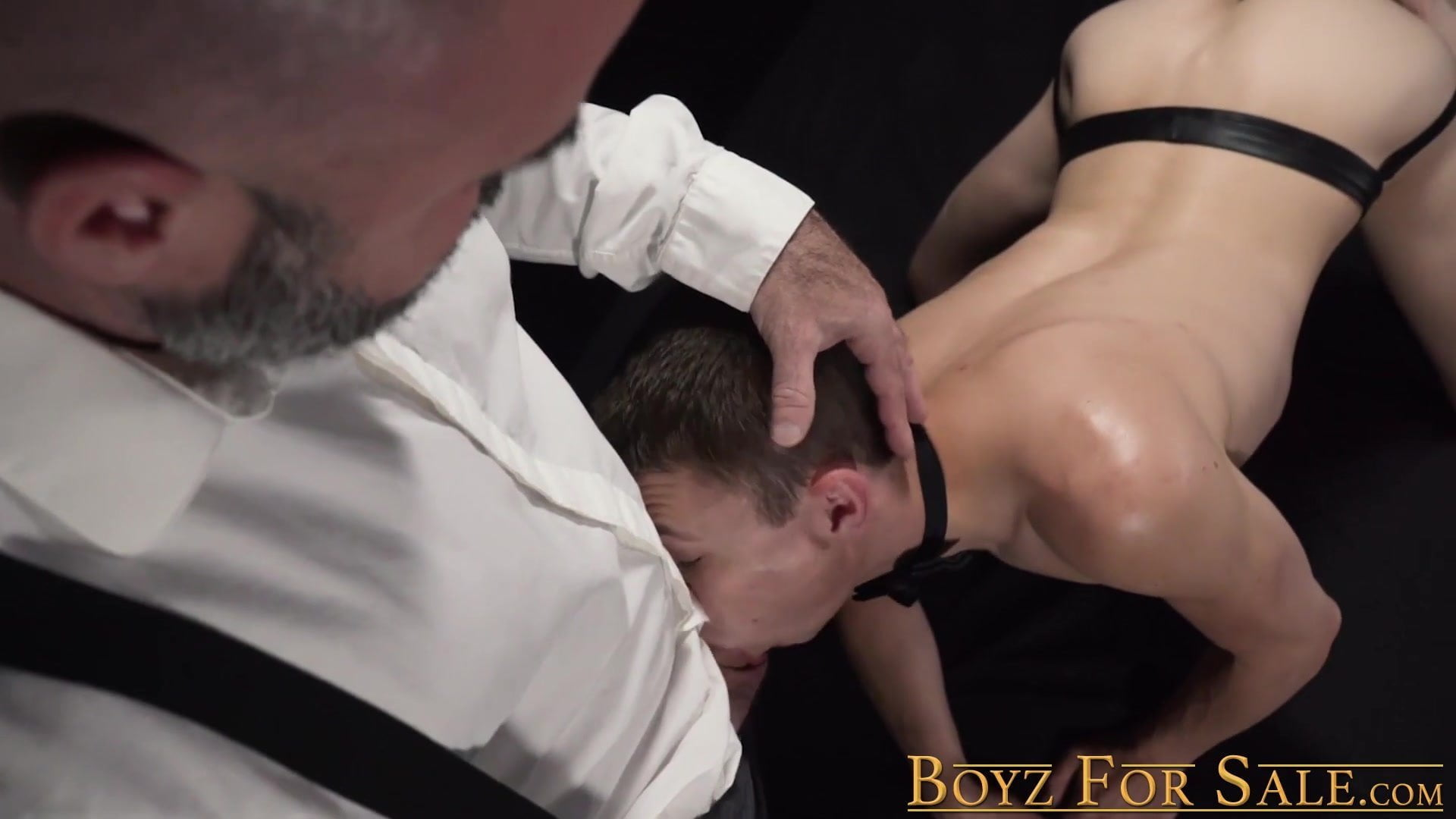 Skinny slave boy dominated and barebacked by hunky daddy