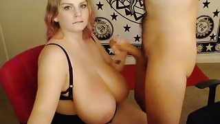 Blowjob huge tits