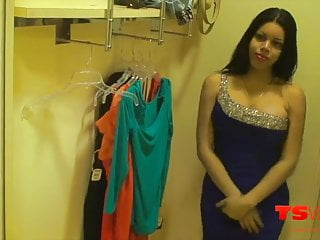 Vivian Black in the changing room