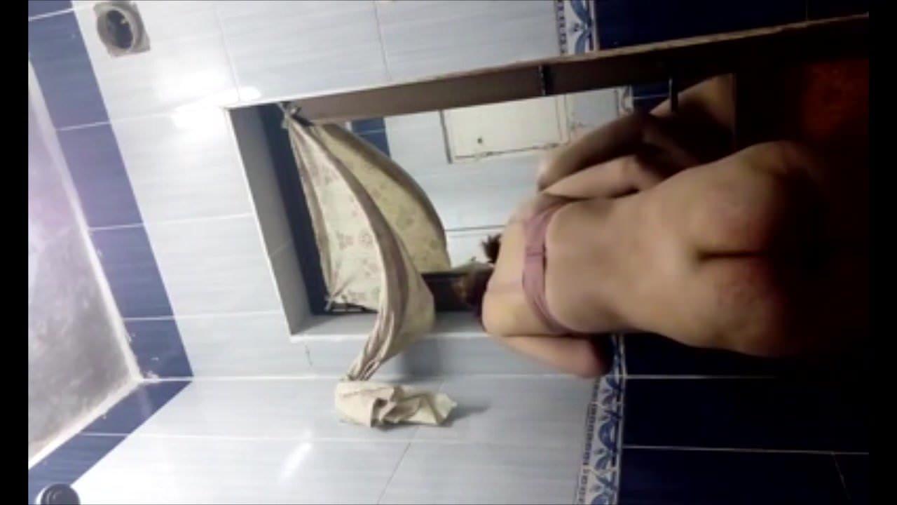 Making a selfie in the bathroom