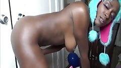 Oiled ebony butt