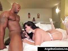 Cuban BBW Angelina Castro Teases A BBC & Gets Pounded After!