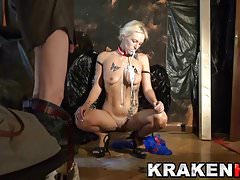 Krakenhot  Great Blowjob and huge cum with Estefani Tarrago