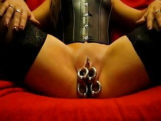 Pierced lady shows her beautiful cunt