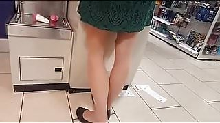 Shoppers in tan and black pantyhose