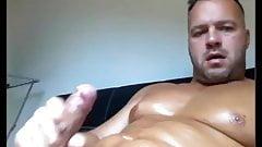 Hot Hunk Cum over his Body