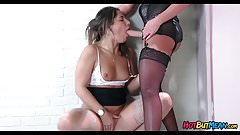 Lesbian Punishment at work