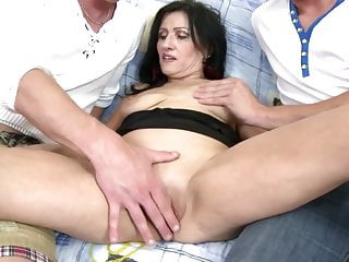 Mature mother-in-law fucked by two young not her sons