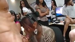 Hot Office Ladies Have Fun With The Cock