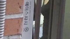 Korean Neighbor bathroom voyeur