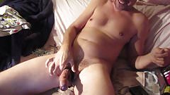 Cum with a chain after a BDSM cam session