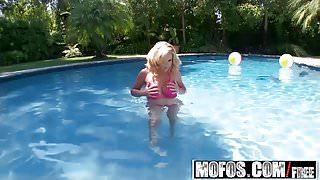 Mofos - Shes A Freak - Pink Pussy by the Pool starring  Ains