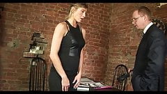 Secretary stripped and spanked in the office by strict boss