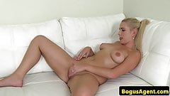 Czech casting amateur bouncing on agents cock