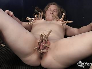 Yanks Lili Sparks Plays With Clothespins
