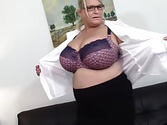Mom with big natural tits and hungry cunt