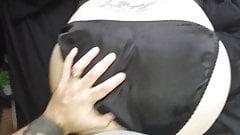 black satin panties 1