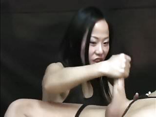 Japanese Mistress Make Best Handjob Bondage Femdom