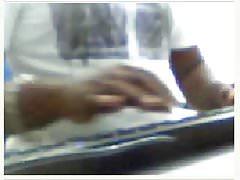 Black bull cum in webcam