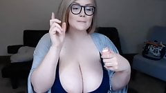 amazing bbw american women show her big white tits