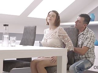 OLD4K. Young girl has beautiful sex with an old man