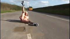 skate on the road public dildo on the road