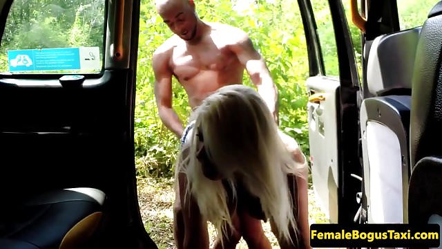 Preview 1 of Busty british cabbie doggystyle by black guy