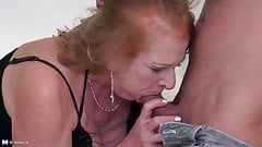 Hot family sex with granny and milf