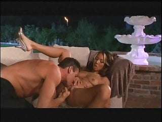 Asian babe gets her tight pussy licked by a young stud then fucks