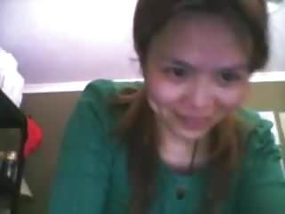 Chinese wife fucking and swallowing cum on the webcam