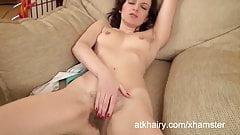 Hairy Lizaveta K masturbates