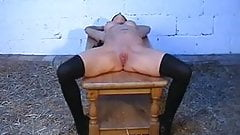 Mature slut wife gets pretty pussy spanked!