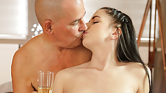 OLD4K. Adorable brunette Kittina Ivory gets banged by old...'s Thumb