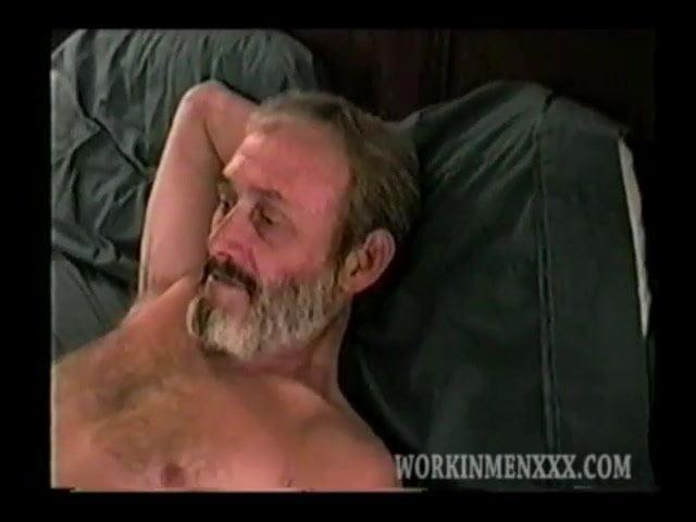 Mature man ronnie jerks off