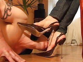Arches and shoe worship stilletos leather shoes