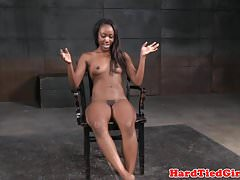 Ebony bdsm sub toyed by black maledom