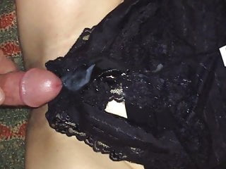 Pull Out of Pussy, Cum on Panties