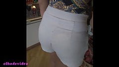 big ass transparent short brunette E 204.2
