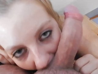 BIG BOOBS GIVES HER THROAT AND GETS SURPRISE FACIAL