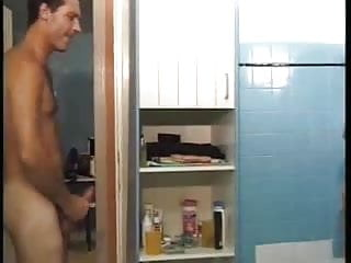French pregnant babe bathroom fuck in all holes