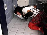 Crossdresser toilet slave