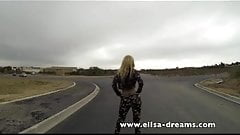 Flashing on the road