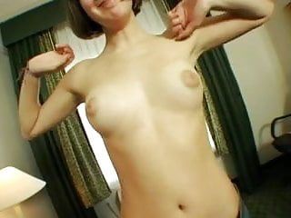 Short Hair Brunette Teen Having Some Fun