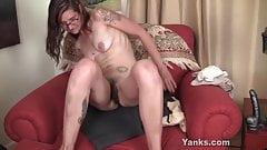 Yanks Tattooed Sylvie Lavine Toys Her Pussy