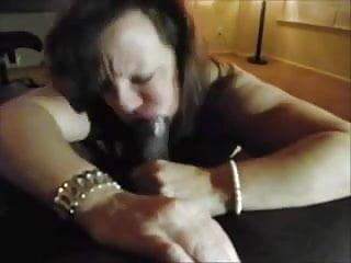 Granny horny likes sucks black dick