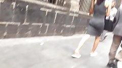 Sweet ass in grey dress, culo marcando calzon part 3