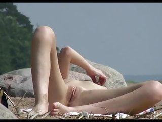 Nude Beach - Big Boob Spread
