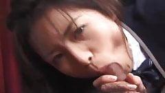 Japanese schoolgirl fucking in classy uniform