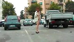 Old video of an exhibitionistic wife 2
