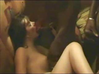 cuckold dirty wife gangbanged by big black cocks